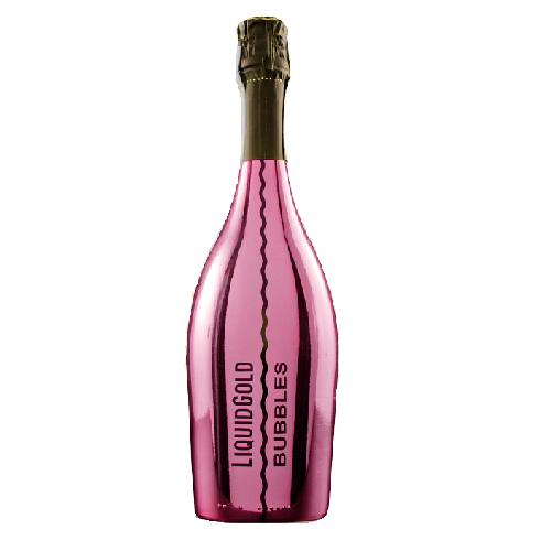Vang nổ Liquid Gold Prosecco Elegant Bubbles PINK