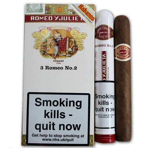 Xì Gà Romeo y Julieta No. 2 Tubed Cigar - Pack of 3